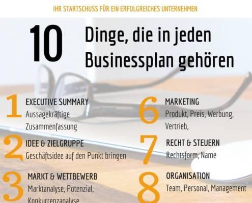 Businessplan wichtige Punkte